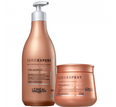 Absolut Repair Pós Química Shampoo 500ml + Máscara 250ml - Série Expert / L'oréal Professionnel