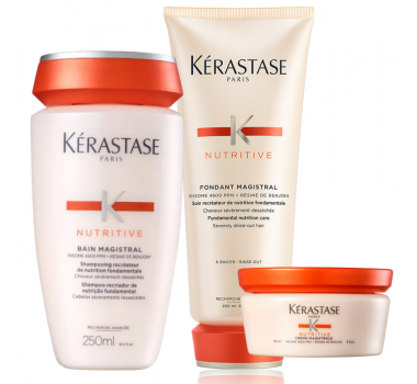 Nutritive Magistral Kit Shampoo + Condicionador + Leave-In Magistrale - Kérastase
